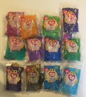 Ty Beanie Babies ~ McDonalds Happy Meal Toys ~ 1998 Complete Set Vtg Collectable