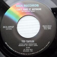 TED TAYLOR soul 45 I CAN'T FAKE IT ANYMORE KEEPIN MY HEAD ABOVE WATER N-MINT e12