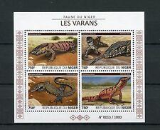 Niger 2015 MNH Monitor Lizards 4v M/S Reptiles Fauna Desert Nile Monitors