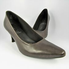 Rockport adiPRENE Pumps Womens Size 8.5N Brown Leather Slip-Ons 3-inch High Heel