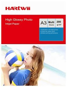 A3 Photo Paper 200Gsm High Glossy Inkjet Paper Printing Hartwii