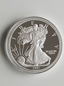 999 Silber 1/4 kg 250g - Walking Liberty - Eagle - USA 1997 - SELTEN - Silver PP