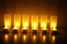 LED Teelicht Flackernd Kerze inkl.Batterien inkl.Windlicht Teelichthalter
