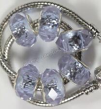 New5Pcs Glass Murano Big Hole Lampwork Beads Fit European Charm Bracelet 14x10mm