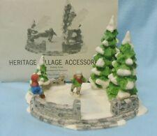 DEPT 56 ~ ICE SKATING POND Heritage Village Accessories RET. #6545-5