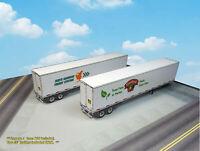 N Scale Trailer (2pcs)- 53' Dry Van Trailers PRE-CUT/SCORED Cardstock Kit DVN1