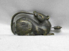 4.6 cm * / China's old bronze lucky mouse can use the lock and key