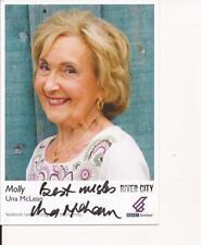 RIVER CITY * UNA McLEAN ' MOLLY ' SIGNED 6X4 PORTRAIT PROMO PHOTO+COA