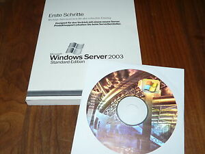 Windows Server 2003 Standard Edition 1-4 CPUs deutsch 5-CAL komplett
