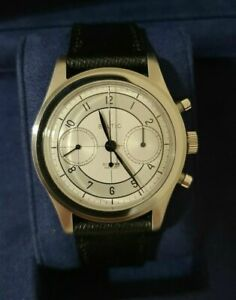 Baltic Bicompax 002 Chronograph Watch - Silver / Black Leather Strap