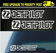 Jetpilot Sticker x2 Boat Jetski Watersports Car Decal