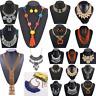 Women Bib Pendant Crystal Choker Chunky Statement Chain Necklace Fashion Jewelry