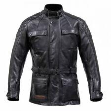 Spada Leather Berliner Motorcycle Jacket - Black - Size 44