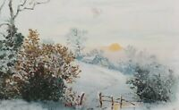 c1908 Snowy Serene Winter Scene Reward of Merit by Raphael Tuck Large Card