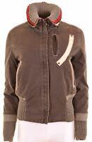 MURPHY & NYE Womens Padded Jacket Size 10 Small Brown  LI03
