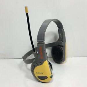 Sony Sports FM/AM Radio Walkman Headphones SRF-HM55 10 Preset Yellow Tested