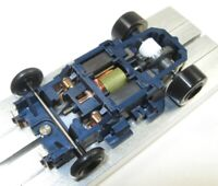 """Tyco Slot Car-""""3.5 OHM BANDIT"""" BLUE - PRO 8 Mags - Ski Shoes -WICKED FAST!!/Tomy"""