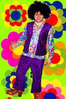 120✪ Hippie Komplett Kostüm Woodstock Revival 70er Jahre Kult Gr. 50 - 52