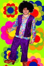 237✪ Hippie Komplett Kostüm Woodstock Revival 70er Jahre Kult Gr. 50 - 52