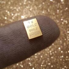 1g Feingoldbarren ► 1 Gramm Gold 999,9