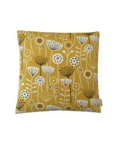 Scandinavian Nordic Bergen Dandelion orange teal ochre Grey denim Cushion Covers