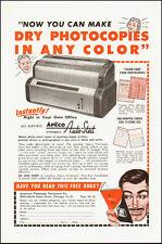 1953-APECO Systematic Auto Stat`Photocopier`Photo/Model-Vintage Ad