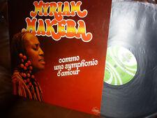 """Myriam Makeba, Comme une Symphonie d' amour, France Sonodisc 7501 LP, 12"""" 1979"""