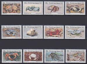 Crabs Weihnachtsinseln Mi No. 199 - 210, Mint, MNH