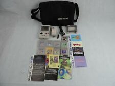 Nintendo Gameboy Lot Authentic Console Games Case AC Adapter Tested Working