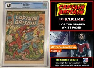 💎 1 OF 5 CAPTAIN BRITAIN #17 CGC 9.8 WHITE PAGES 💎 1st  APPEARANCE S.T.R.I.K.E