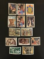 SPAIN SPANISH NAVIDADES CHRISTMAS - ESTATE LOT SET 13 USED STAMPS - EARLY YEARS