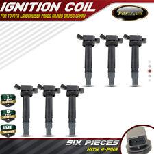 Set of 6 Ignition Coils for Toyota 4Runner  Landcruiser Prado Hilux 1GR-FE 4.0L