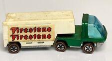 Hot Wheels Redline Green Heavyweights Moving Van Lines Firestone Trailer