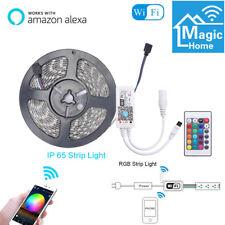 5m Flexible Smart WiFi RGB LED Strip Light IP65 for Alexa Amazon Google Home 12V