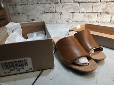 Clarks Womens Elisa Abby Slide Shoes Size 8.5 tan New