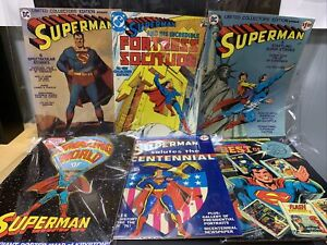 Lot of SIX (6) SUPERMAN Treasury Size Limited Collector's Ed Comics, Krypton Map