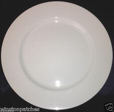 """FITZ & FLOYD JAPAN WHITE SHOULDERS DINNER PLATE 10 1/4"""" ALL WHITE 218"""