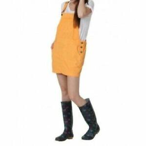 Short Oversized Dungaree Overall Dress - Orange (C-Orange)