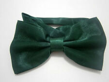 Bottle Green Mens 2 Layer PreTied Dicky Bow Tie Adjustable Neck Fast Postage
