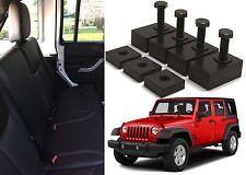 Black Delrin Plastic Rear Seat Recline Kit For 2007-2017 Jeep Wrangler JK 4 Door