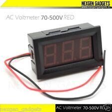 Digital LED AC Voltmeter Panel Self Powered 70 - 500V Voltage Meter RED