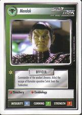 STAR TREK CCG WHITE BORDER PREMIERE 1995 BETA RARE CARD MENDAK
