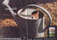 PUBLICITÉ 1989 UNE CABANE DU RON-RON CHANGEZ RIEN- ARROSOIR - CHAT - ADVERTISING