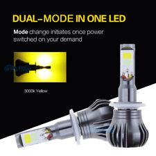 2x 880 Super Bright COB Bulbs Yellow Switchback LED Fog Lights 3000K High Power