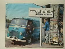 Prospectus RENAULT  ESTAFETTE  Zone Bleue   Non daté     brochure catalogue