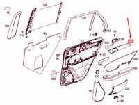 MERCEDES-BENZ GLE W166 Rear Left Door Trim Strip A1667300922 NEW GENUINE