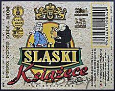 Poland Brewery Lwówek Śląski Książęce Beer Label Bieretikett Cerveza ls129.1