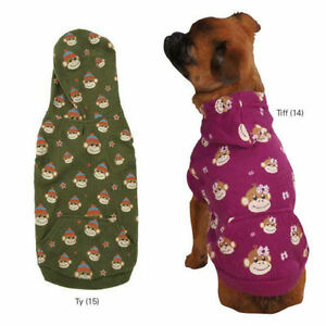 Monkey Business Waffle Hoodie Dog East Side Collection XXS-XL Pet Top New