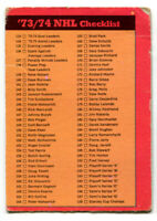 1973-74 OPC Checklist 133-264 Card #129 Unmarked