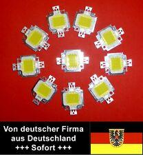 Warmweiße LEDs 10x 10 Watt = 100 Watt, 10.000 Lumen, 12Volt